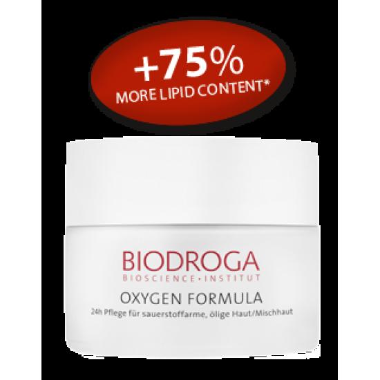 Кислородный крем для жирной и комбинированной кожи Biodroga 24h Care for sallow oily/combination skin