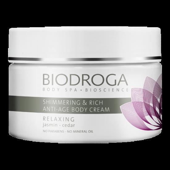 Антивозрастной питательный крем для тела сияние Biodroga Shimmering Rich Anti-Age Body Cream