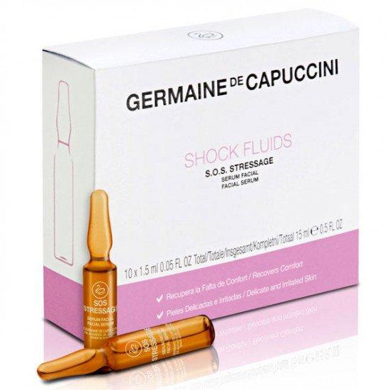 Сыворотка для чувствительной кожи Germaine de Capuccini Shock Fluids S.O.S. Stressage