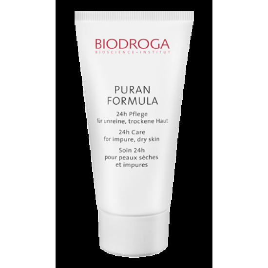 Крем 24-часовой уход за проблемной сухой кожей Biodroga 24-h Care for impure dry skin