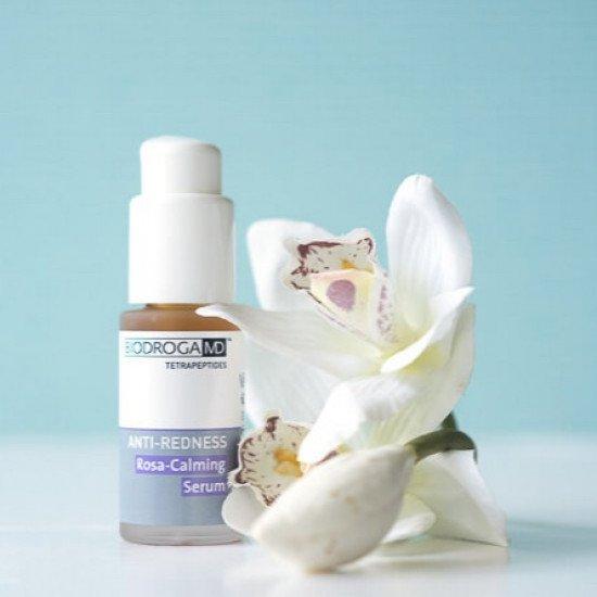 Антикуперозная сыворотка с тетрапептидами Biodroga MD Rosa-Calming Serum
