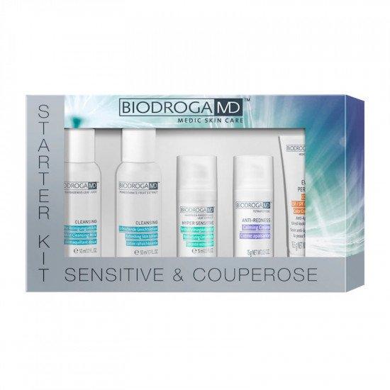Набор от купероза и чувствительной кожи Biodroga MD Sensitive and Couperose Starter Kit