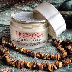 Кислородный крем сухой кожи Biodroga 24h Care for sallow dry skin