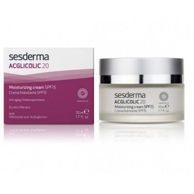 Увлажняющий крем для сухой кожи SPF 15 Sesderma Acglicolic 20 Moisturizing Cream SPF 15