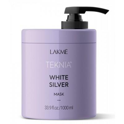 Маска для светлых и осветленных волос 1000 мл Lakme Teknia White Silver Mask