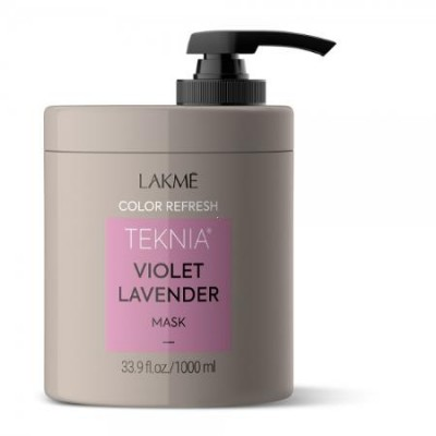 Маска для ухода за волосами фиолетовых оттенков 1000 мл Lakme Teknia Color Refresh Violet Lavender Treatment