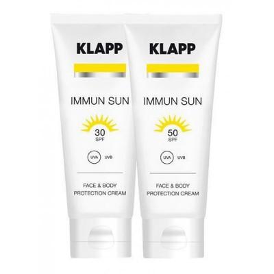 Солнцезащитный крем для лица СПФ50 Иммун KLAPP Immun SUN Face Protection Cream SPF50