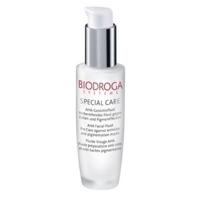 Сыворотка-флюид с АНА-кислотами для уменьшения морщин и пигментных пятен Biodroga AHA Facial Fluid