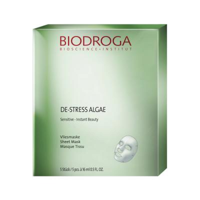 Anti-Age маска моментального действия для чувствительной кожи Biodroga Sensitive De-Stress Algae Essence Sheet mask