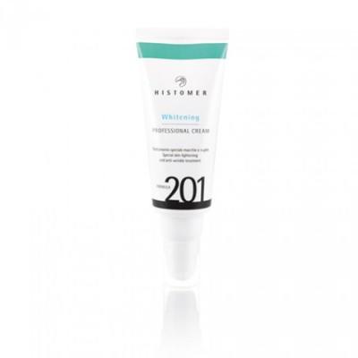 Крем профессиональный финишный мультиактивный для осветления и сияния кожи SPF 20 HISTOMER Formula 201 WHITENING MULTI ACTION CREAM
