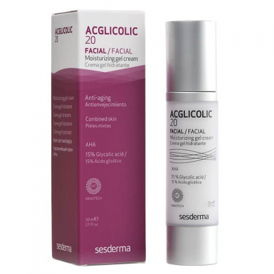 Крем-гель увлажняющий для смешанной кожи AHA 15% Sesderma Acglicolic 20 Moisturizing Сream-Gel
