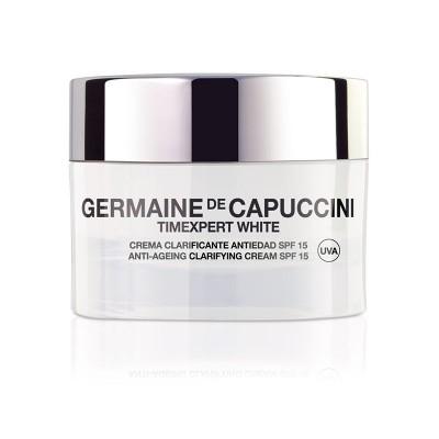 Крем для коррекции пигментных пятен Germaine de Capuccini TE White Antiaging Clarifying Cream SPF15