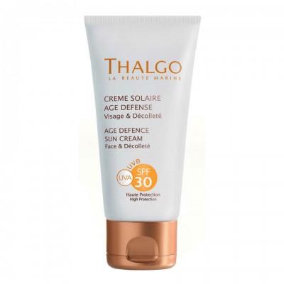 Солнцезащитный крем, предупреждающий старение кожи СПФ-30 Thalgo AGE DEFENCE SUN CREAM SPF30