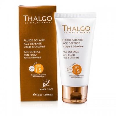 Солнцезащитный крем, предупреждающий старение кожи СПФ-15 Thalgo AGE DEFENCE SUN CREAM SPF15