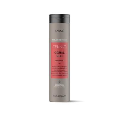 Шампунь для волос красных оттенков Lakme Teknia Color Refresh Coral Red Shampoo