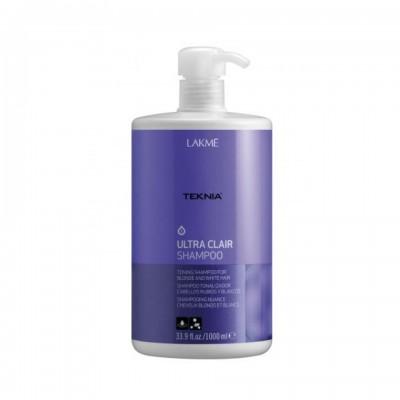 Шампунь для светлых и осветленных волос 1000 мл Lakme Teknia White Silver Shampoo